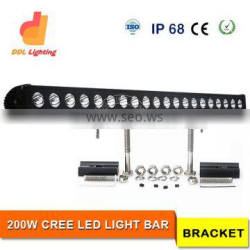 DDL Brand Top Quality 200W flood c-ree Off road LED Bars Light for Truck vehicle light bar