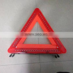 road safety flashing reflective triangle with 60pcs led lights
