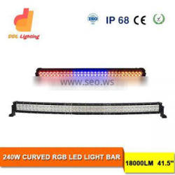 42inch 240w wireless remote control multi color led light bar colorchanging light bar