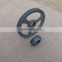 OEM part top quality timing belt pulley round v belt pulley sizes casting CNC machining sheave pulley belt