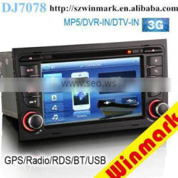 Winmark DJ7078 7 inch Car Multimedia System Car DVD Player with 1080P RDS