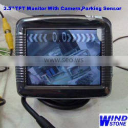 Parking Sensor System With Wireless Camera System 3.5 inch Car TFT LCD Monitor