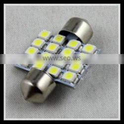 automobile accessory parts for car lighting 16SMD xenon lamp led festoon lights