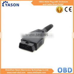 OBD2 J1962m Male Connector with Enclosure and Cable Strain Relief