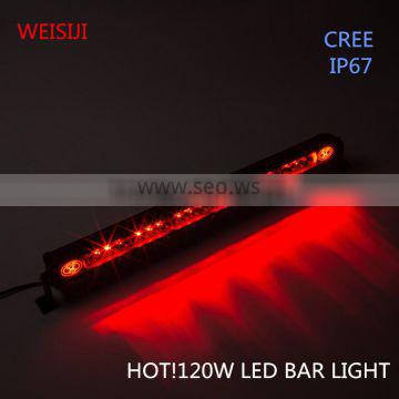 Hottest and super bright waterproof single row smart diy led light bar 120W Supplier's Choice