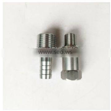 SS304 SS316 machining parts Male Thread Equal Combination Hose Nipple for Plumbing pipes, threaded bushing, fitting