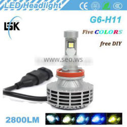 Lanseko g6 car kit 25w hot-selling h11 car led headlight with All in one design