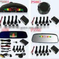 car sensor parking system with led display, buzzer, camera,rearview mirror
