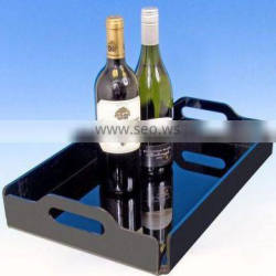 Acrylic wine tray with black base