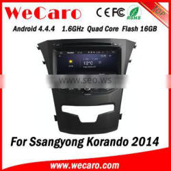 Wecaro WC-SY8067 Android 4.4.4 car multimedia system in dash for ssangyong korando car radio android bluetooth 2014 2015