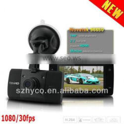 2014 High Quality 1080P Manual Car Camera HD DVR Wide Dynamic Range Vehicle With G-Sensor + Infrared Super Night Vision