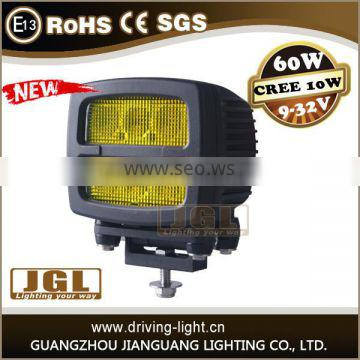 9-80v 60w led work light off road led car headlight for heavy duty truck tractor 4x4 accessories car led with IP67 CE ROHS