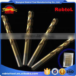 8mm nano titanium coating straight shank Hss Twist Drill Bits Cobalt Fully Ground Bright Finish drilling Metal Forged Alloy
