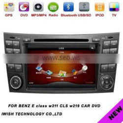 double dins 7inch Android 4.0 iwish car gps for Mercedes benz E class w211 CLS W219