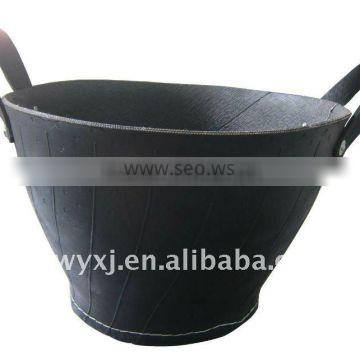 recycled tire basket,OEM rubber bucket,hand-making tire bcket