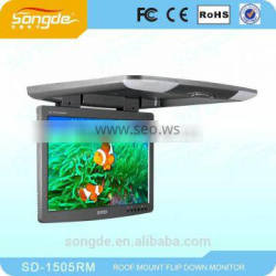 "15.5"" inches Car Monitor Car Roof Mounted Monitor Flip Down Monitor"