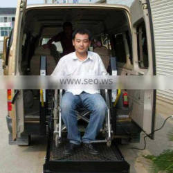 Economy high quality WL-D -880 wheelchair lift installed on van's rear door for disabled