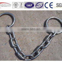 copetitive price SUS304/316/316L stainless steel pump lifting chains with round ring