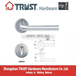 LH014:Trust Stainless Steel Solid Lever Handle with Escutcheon