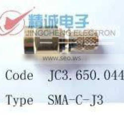 SMA connector for flexible cable