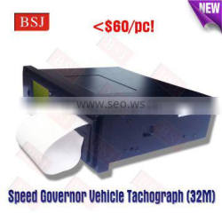 Tachograph car black box Vehicle travelling data recorder with speed limit function and printing function
