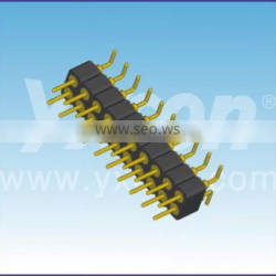 Dongguan supplier 2.0mm pitch dual row vertical SMT Round pin header connector