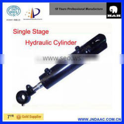 single acting and single stage dump truck hydraulic cylinder