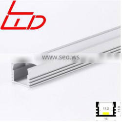 China suppliers surface mounted aluminum track with PC diffuser for rigid led strip