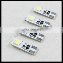 high quality 2SMD T10 W5W Can-bus error free led light bulb car led indicator light