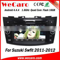 Wecaro WC-SS7669 Android 4.4.4 car dvd player quad core for suzuki swift cd player mp3 audio system 1080p