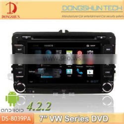 "7"" VW pure android 4.2.2 car DVD GPS with WIFI/3G"