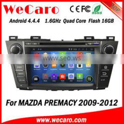 """Wecaro Android 4.4.4 WC-MZ8005 8"""" wifi 3g car auido for mazda premacy car dvd player 2009 2010 2011 2012"""
