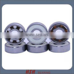 Spin 5 minutes 20 seconds 608RS 8mm 8*22*7 ceramic ball ZrO2 ball hybrid white ball skateboard skate scooter bearing