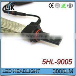 Super brightness 3000 lumens headlight excellent heat dissipation G5 led headlight bulb 9005