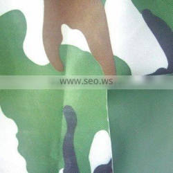 Camouflage printed and PVC coated oxford