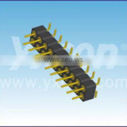 Dongguan supplier 2.54mm pitch vertical SMT dual row Machined pin header connector