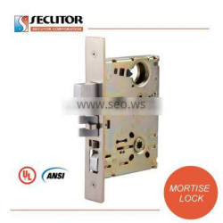 ANSI UL Fire Rated Hotel Mortise Door Handle Lock