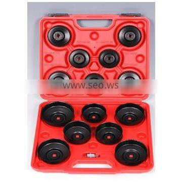 15 Pc's Cup Type Oil Filter Wrench with black plated autside - Car Repair Tools