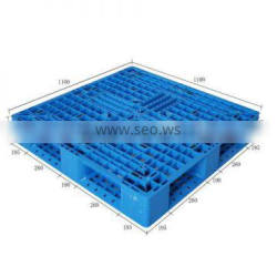 Euro Steel reinforced plastic pallets with four types