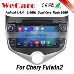 Wecaro WC-MC8029 Android 4.4.4 gps navigation HD for chery fulwin2 car dvd player Wifi&3G