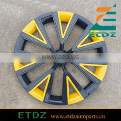ABS High Quality 14inch BLACK/YELLOW Colorfull Car Wheel Cover
