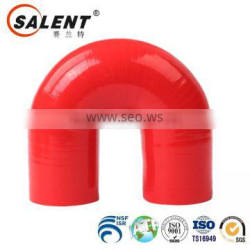 standard 25mm reinforced Red 180 degree flexible silicone elbow hose hookah