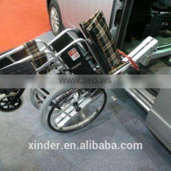 Wheelchair easy loader for foldable wheelchair used for van