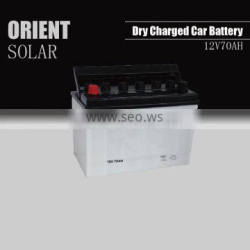 12V 70AH dry charged car battery