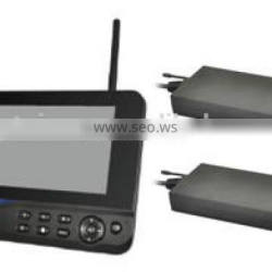 """CTR40672,7"""" Digital Wireless Monitor with socking cup braket + transmitter box*2pcs for truck, heavy duty one to two"""