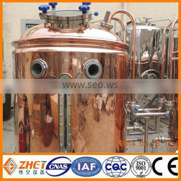 red copper beer brewing equipment with CE&ISO