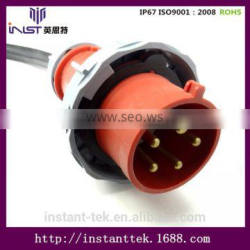 INST latching push button switch telecommunication m58 connector with pu cable
