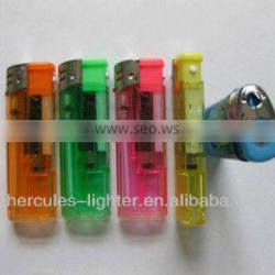 Disposable lighter with white led lamp