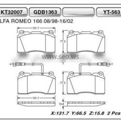 Auto brake pads for Alfa Romeo