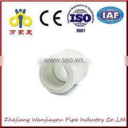 white High Quality ppr fitting double equal socket